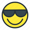 cool, emoji, emoticons, face, happy, smiley, sunglasses icon
