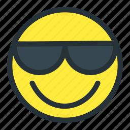cool, emoji, emoticons, face, happy, smiley, sunglasses icon