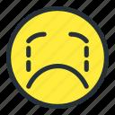 cry, emoji, emoticons, face, sad, smiley, unhappy