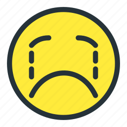 cry, emoji, emoticons, face, sad, smiley, unhappy icon