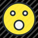 emoji, emoticons, face, flushed, shock, shocked, smiley icon