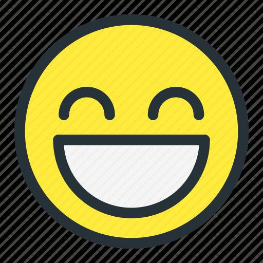 emoji, emoticons, face, great, laugh, rofl, smiley icon