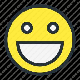 emoji, emoticons, face, great, happy, smiley icon