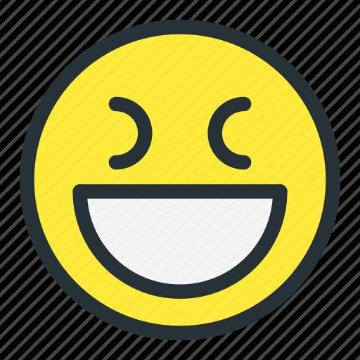 emoji, emoticons, face, happy, laugh, rofl, smiley icon