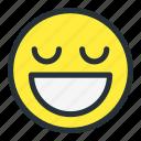emoji, emoticons, face, great, happy, smiley