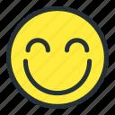 blush, emoji, emoticons, face, happy, preatty, smiley