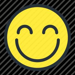 blush, emoji, emoticons, face, happy, preatty, smiley icon