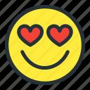 emoji, emoticons, face, heart, love, lovely, smiley
