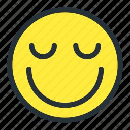 blushing, emoji, emoticons, face, happy, preatty, smiley icon