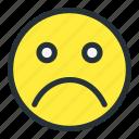 emoji, emoticons, face, sad, smiley, unhappy