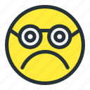 emoji, emoticons, face, faceunhappy, sad, smiley, sunglasses icon