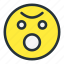 emoji, emoticons, face, flushed, shock, smiley icon