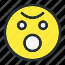 emoji, emoticons, face, flushed, shock, smiley