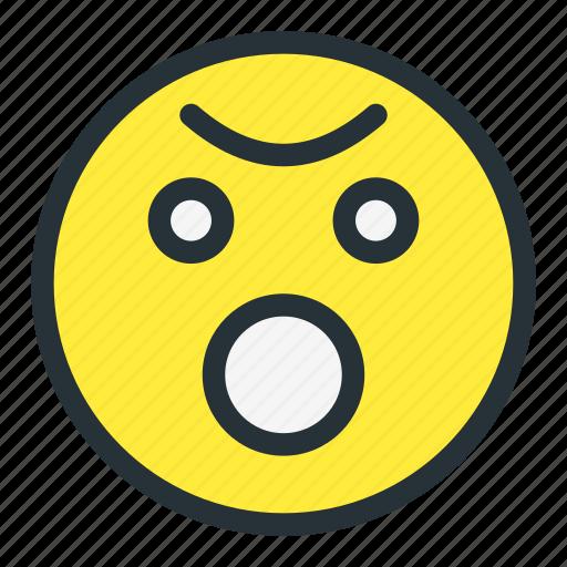 emoji, emoticons, face, flushed, shock, smiley icon