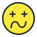 emoji, emoticons, face, sick, smiley, tired icon