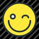 emoji, emoticons, grumppy, happy, smiley, wink, winking