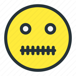 emoji, emoticons, face, smiley, zipped icon