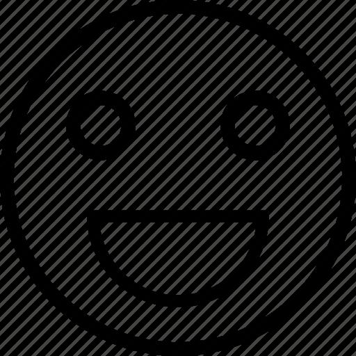 content, happy, happy emoji, happy smiley, laughing, smile icon