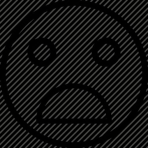 horrible emoji, sad, sad emoticon, upset emoji icon
