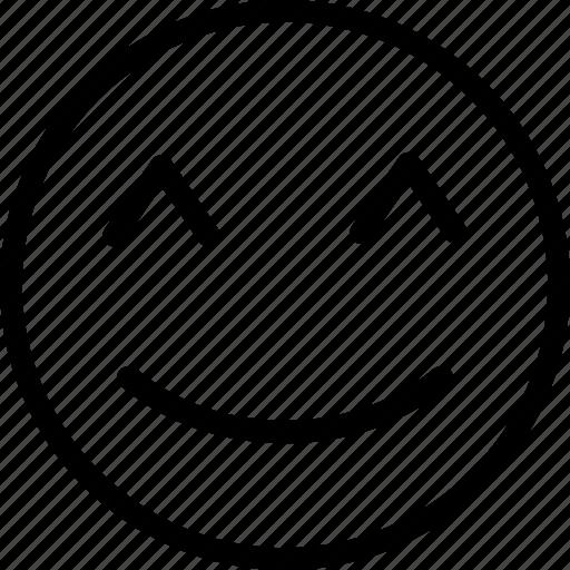 happy, happy emoticon, smile, smile emoji icon