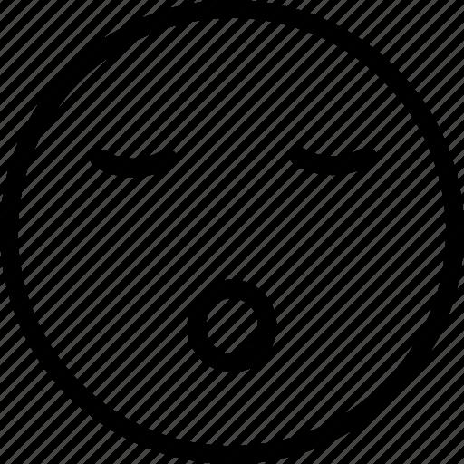 sleep, sleeping, sleeping emoji, sleeping emoticon icon