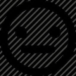 neutral, smiley icon