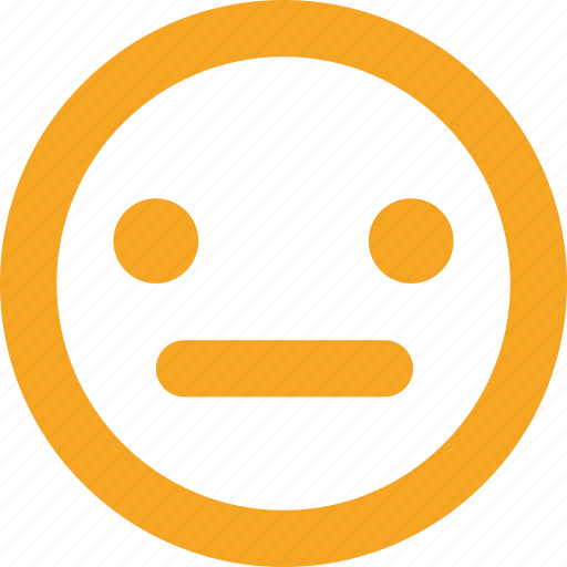 emotion, expression, mood, neutral, smiley icon