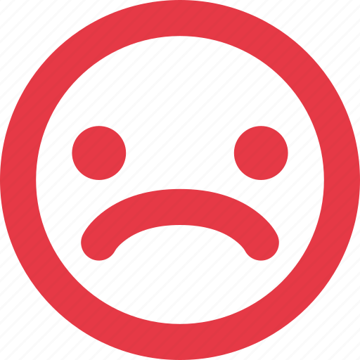 Angry Emotion Face Mood Negative Sad Smiley Unhappy Icon