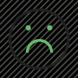 abuse, alone, depressed, depression, disturb, sad, upset icon