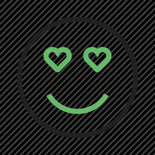 Beautiful, heart, love, valentine, pink, card, happy icon