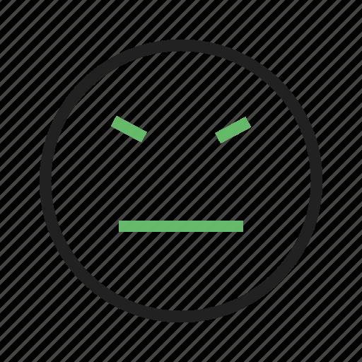 angry, annoyed, rude, sad, stubborn, upset, worried icon
