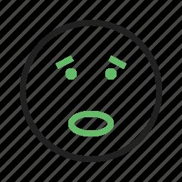 amazed, sad, shocked, surprised, upset, worried icon