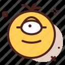 cyclops, emoji, smiley, emoticon icon