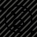 scared, emoji, smiley, emoticon icon