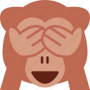 baboon, emoji, monkey, smile icon