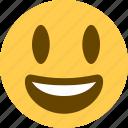 2, emoji, emoticons, happy, smiley, very happy icon