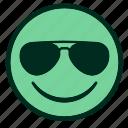 chill, cool, cooler, emoji, face, smiley, sunglasses