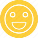 content smiley, happy, happy smiley, smile icon