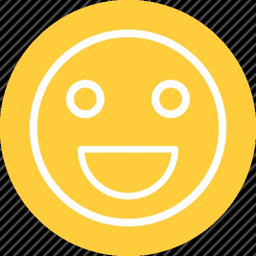 content smiley, happy, happy smiley, smile icon