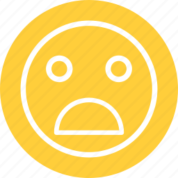 bad, embarassed, frown, horrible, horrible smiley, sad icon