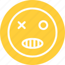 bad smiley, evil, evil smiley icon