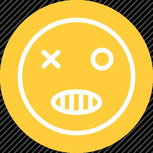 bad smiley, evil, evil smiley icon