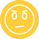 bad, bad smiley, evil, sad icon