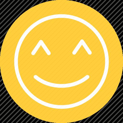 cute, happy, happy smiley, smile icon