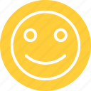 happy, happy smiley, smile, smile emoticon icon