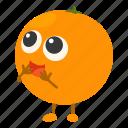 citrus, fresh, fruit, orange, slice icon