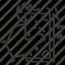 waste, money, burning, useless icon