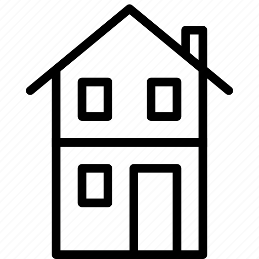 building, estate, home, house, property, real icon