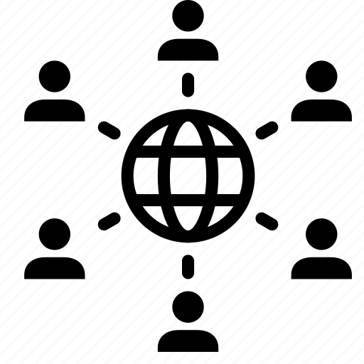 business, connection, network, organization, relation, structure icon