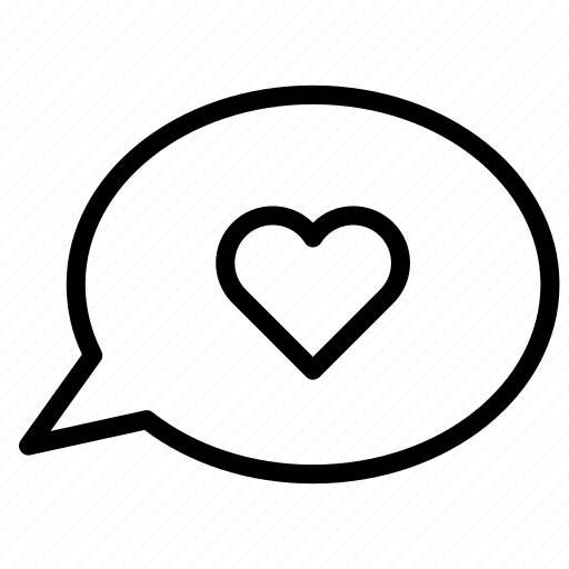 bubble, chat, conversation, heart, love, message, talk icon